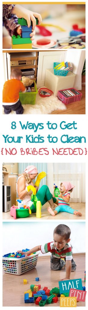 8 Ways to Get Your Kids to Clean {No Bribes Needed} - Cleaning, Cleaning Hacks, Cleaning Hacks for Kids, Kids Cleaning Tips, Clutter Free Living, Chores for Kids, Cleaning Tips and Tricks for Kids