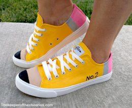 DIY Pencil Tennis Shoes