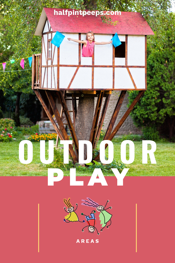 An easy way to get your kids out of the house and away from the TV or video games, is to offer them an outdoor play area. They are great for exercise and provide hours of entertainment. We have ideas for DIY play areas, and play areas for toddlers, kids and more. #outdoorplayareas #outdoorkidsplayareas